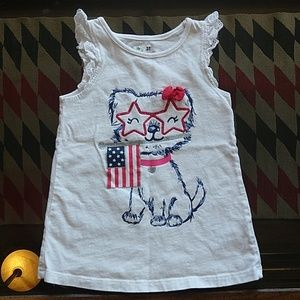 Jumping Beans, girl's 3T American Flag tank top